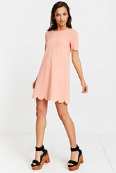 Cooperative Scallop Tee Dress Pink