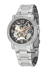 Stuhrling Women's Skeleton Bracelet Crystals Watch Metallic