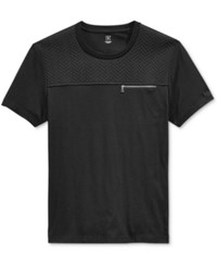 Inc International Concepts Men's Hot Quilted Pocket T Shirt Only At Macy's Deep Black
