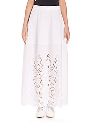 Stella Mccartney Penelope Broderie Anglaise Maxi Skirt Optical White