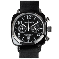 Briston Clubmaster Chronograph Watch Black And Silver