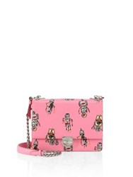 Prada Robot Saffiano Leather Chain Crossbody Bag Rosa