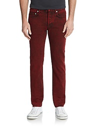 Christian Dior Washed Straight Leg Jeans Red