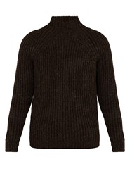 De Bonne Facture Ribbed Knit Wool Sweater Brown