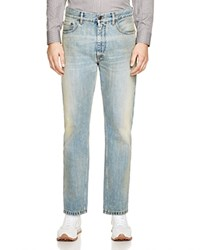 Marc Jacobs Straight Fit Jeans In Bleach Wash