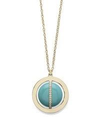 Ippolita 18K Senso Metal Wrapped Turquoise Necklace With Diamonds 31