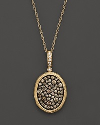 Bloomingdale's Brown And White Diamond Pendant Necklace In 14K Yellow Gold 1.50Ct.T.W. None
