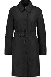 Belted Padded Shell Coat Black