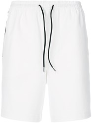 Y 3 Side Stripe Track Shorts White