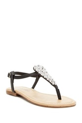 Rampage Pindle Embellished Thong Sandal Black