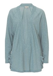 Betty And Co. Fine Knit Cardigan Blue