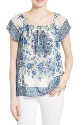 Joie Women's Taj Silk Peasant Top