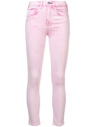 Mcguire Denim Cropped Jeans Pink And Purple