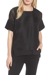 Ming Wang Mesh Layered Top