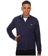 Fred Perry Funnel Neck Track Jacket Carbon Blue Men's Coat Navy