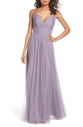 Hayley Paige Occasions English Net Gown Mauve