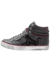 Drunknmunky Boston Vintage Hightop Trainers Antracite Anthracite