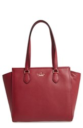 Kate Spade New York Jackson Street Hayden Leather Satchel Red Fig Jam