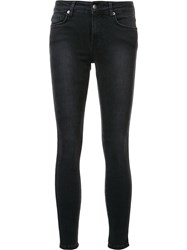 Ksubi Super Skinny Cropped Jeans Black