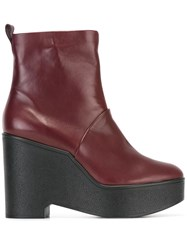 Robert Clergerie 'Bisout' Boots Red