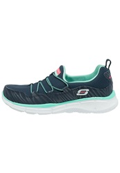 Skechers Sport Equalizer Absolutely Fabulous Slipons Navy Aqua Dark Blue
