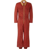 Gucci Slim Fit Tapered Cotton Canvas Boilersuit Red