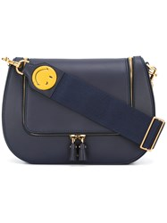 Anya Hindmarch Detachable Strap Crossbody Bag Blue