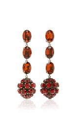 Marni Strass Earrings Red