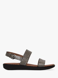 Fitflop Barra Double Strap Sandals Snake Print Leather