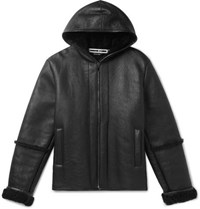 Mcq By Alexander Mcqueen Shearling Hooded Jacket Black