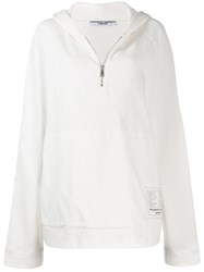 Katharine Hamnett London Hooded Oversized Sweatshirt White