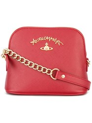 Vivienne Westwood Anglomania Logo Plaque Crossbody Bag Red