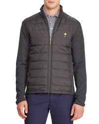 Ralph Lauren Quilted Insulated Golf Jacket With Wool Trim Gray