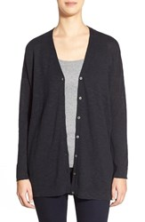 Women's Eileen Fisher Organic Cotton V Neck Cardigan