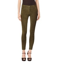 Michael Kors Stretch Suede Leggings Olive