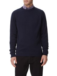 Austin Reed Cotton Navy Crew Neck Jumper