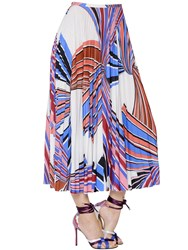 Emilio Pucci Printed Pleated Jersey Skirt