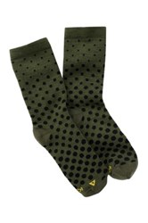 Keen Dotty Lite Crew Sock Green