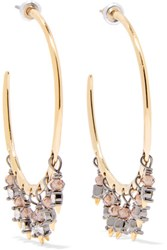 Alexis Bittar Gold And Gunmetal Tone Bead And Swarovski Crystal Earrings One Size
