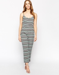 Oh My Love Jumpsuit In Geo Tribal Print Aztecmulti