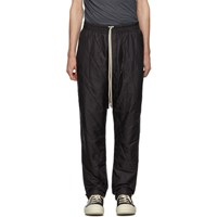 Rick Owens Drkshdw Black Drawstring Long Lounge Pants