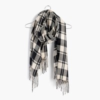 Madewell Patterson Plaid Scarf True Black