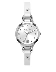 Versus By Versace Rosalyn Leather Strap Bracelet Watch Som010015 White