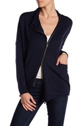 Research And Design Asymmetrical Zip Sweater Blue