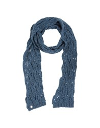 Guess By Marciano Accessories Oblong Scarves Women Slate Blue