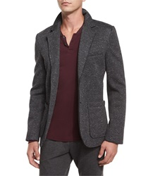 Atm Bonded Knit Speckled Sport Coat Charcoal