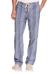 Paul Smith Striped Cotton Pajama Pants Blue Stripe Red Stripe