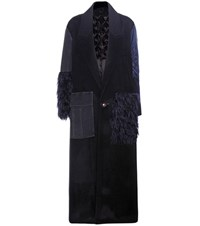 Undercover Wool And Cashmere Coat Blue