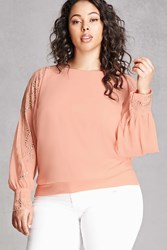 Forever 21 Plus Size Soieblu Studded Blouse Dusty Pink