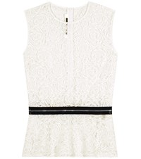 Mcq By Alexander Mcqueen Lace Peplum Top White